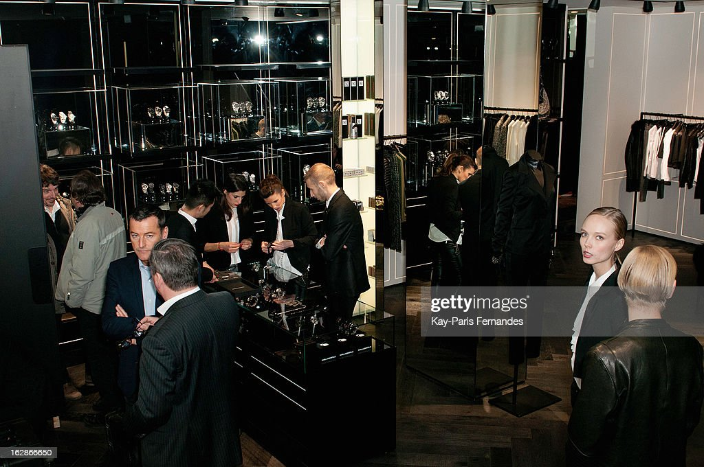 An interior view of the Karl Lagerfeld's Concept Store Opening as part of Paris Fashion Week on February 28, 2013 in Paris, France.