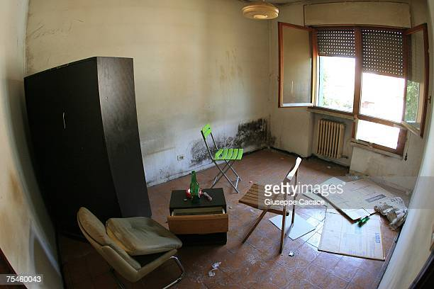 An interior view of the living room of a flat within one of the six Via Anelli apartment blocks on July 17 2007 in Padua northern Italy The rundown...