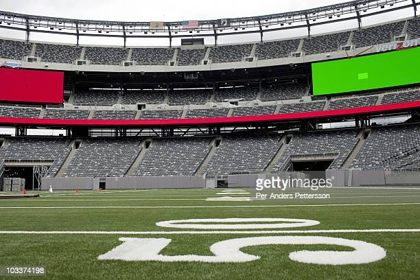 An interior view of the new Meadowlands stadium on May 20 2010 in East Rutherford New Jersey The new state of the art stadium replaced the 30year old...
