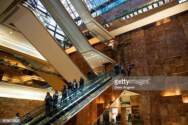 An interior view of Trump Tower November 16 2016 in New York City Trump is in the process of choosing his presidential cabinet as he transitions from...