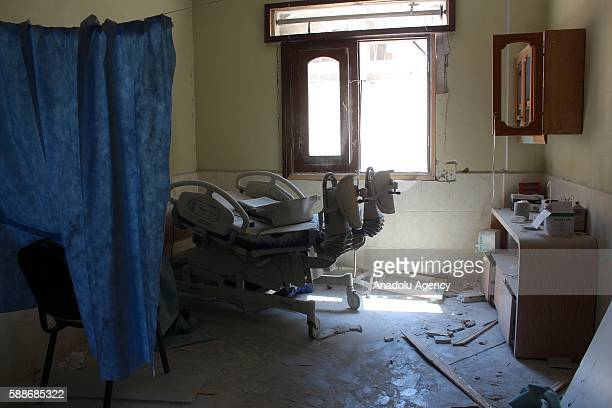An internal view of a damaged maternity and children's hospital is seen after War crafts belonging to the Russian army carried out an airstrike at...