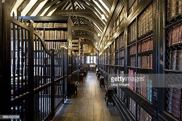 An internal view of Chetham's Library in Manchester