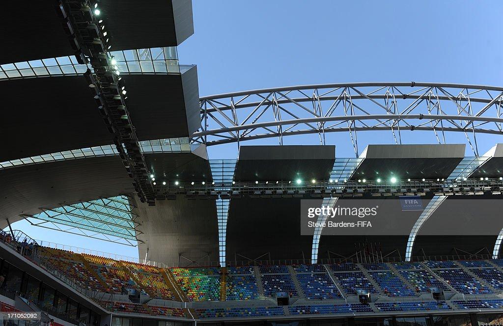 An Internal view of the Kadir Has Stadium before the FIFA U-20 World Cup Group B match between Cuba and Korea Republic at Kadir Has Stadium on June 21, 2013 in Kayseri, Turkey.
