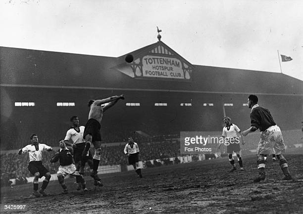 An international football match between England and Germany at White Hart Lane London the ground of Tottenham Hotspur