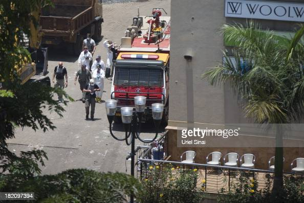 An International forensic team work at the Westgate Shopping Centre on September 28 2013 in Nairobi Kenya Security forces begin the task of clearing...