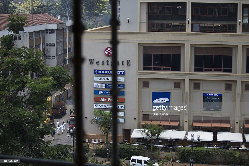 An International forensic team work at the Westgate Shopping Centre on September 28, 2013 in Nairobi, Kenya. Security forces begin the task of clearing and securing the Westgate shopping mall following a four-day siege by militants.