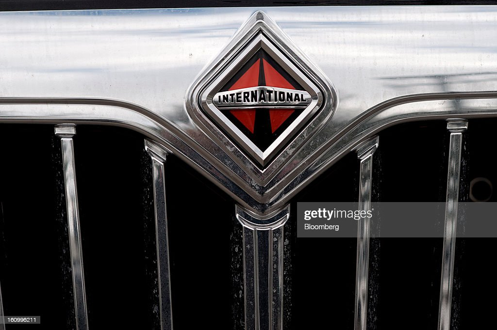 An International Truck and Engine Corp. logo is seen on a motorhome at Nexus RV in Elkhart, Indiana, U.S., on Friday, Feb. 8, 2013. Orders placed with U.S. factories increased less than forecast in December, reflecting a drop in non-durable goods that partly countered gains in construction equipment and computers. Photographer: Ty Wright/Bloomberg via Getty Images