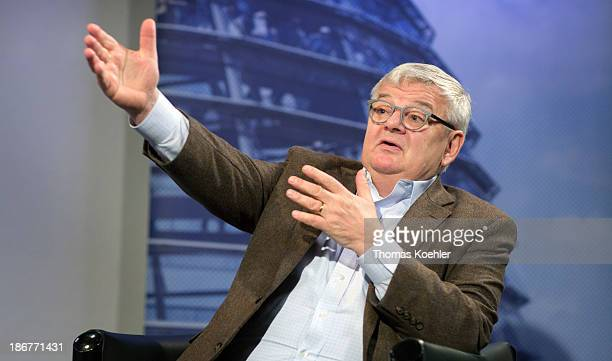 An interview with Green Party member Joschka Fischer pictured on October 04 2013 in Berlin Germany