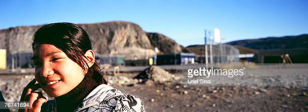 An inuit girl is pictured September 03 2007 in the village of Kangerlussuaq Greenland Even though the disappearing ice cap could lead to higher sea...