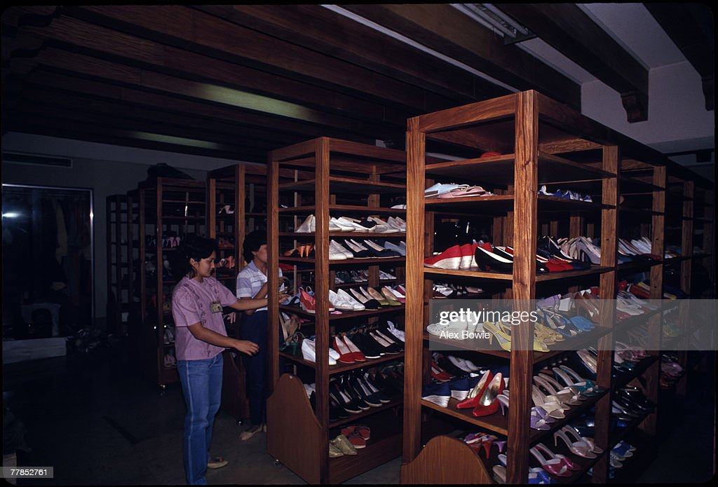 An inventory is made of shoes belonging to former First lady of the Philippines, Imelda Marcos, in a cellar under her bedroom at Malacanang Palace, Manila, 3rd March 1986. Former president Ferdinand Marcos and his family fled into exile in Hawaii after he was deposed in February 1986.