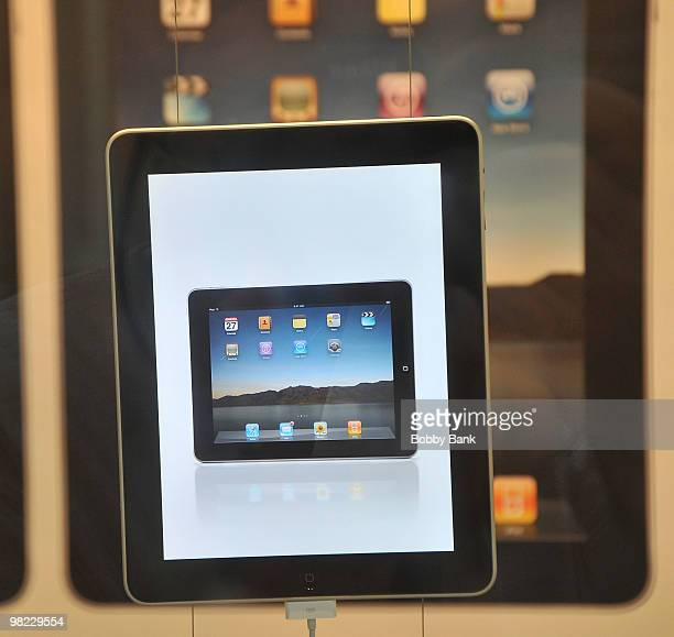 An iPad sits on display at the Apple store on April 3 2010 in Bridgewater New Jersey Debuting today the much heralded iPad looks to be a bridge...