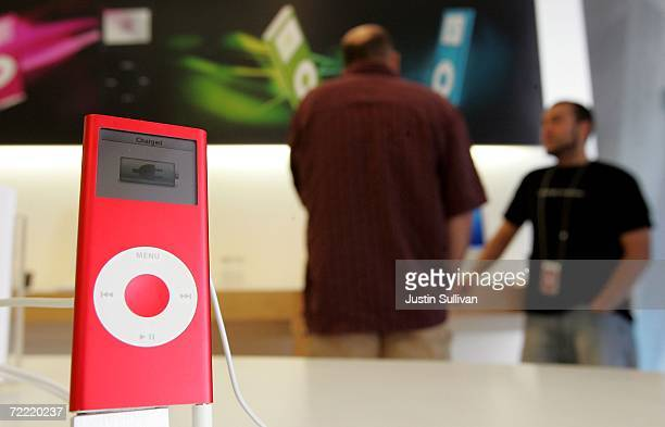 An iPod Nano is seen on display at an Apple store October 19 2006 in Emeryville California Apple Computer's fourthquarter profit rose 27 percent with...