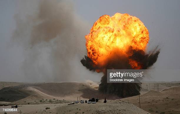 An Iraqi Bomb Disposal Company was at Camp Taqaddum, May 6, 2006 to assist their American counterparts in a controlled demolition of damaged ammunition and other ordnance.