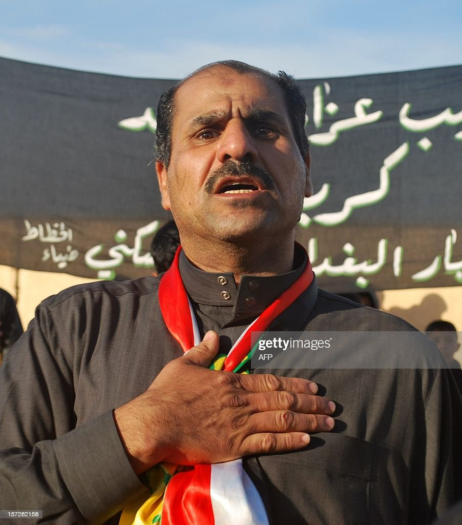An Iraqi Shiite takes part in a march to mark Ashura in the Iraqi town of Baghdadi, in the Anbar province, on November 30, 2012. The march saw the participation of Sunni Muslim clerics from the province, which was long associated with Islamic fundementalist groups.