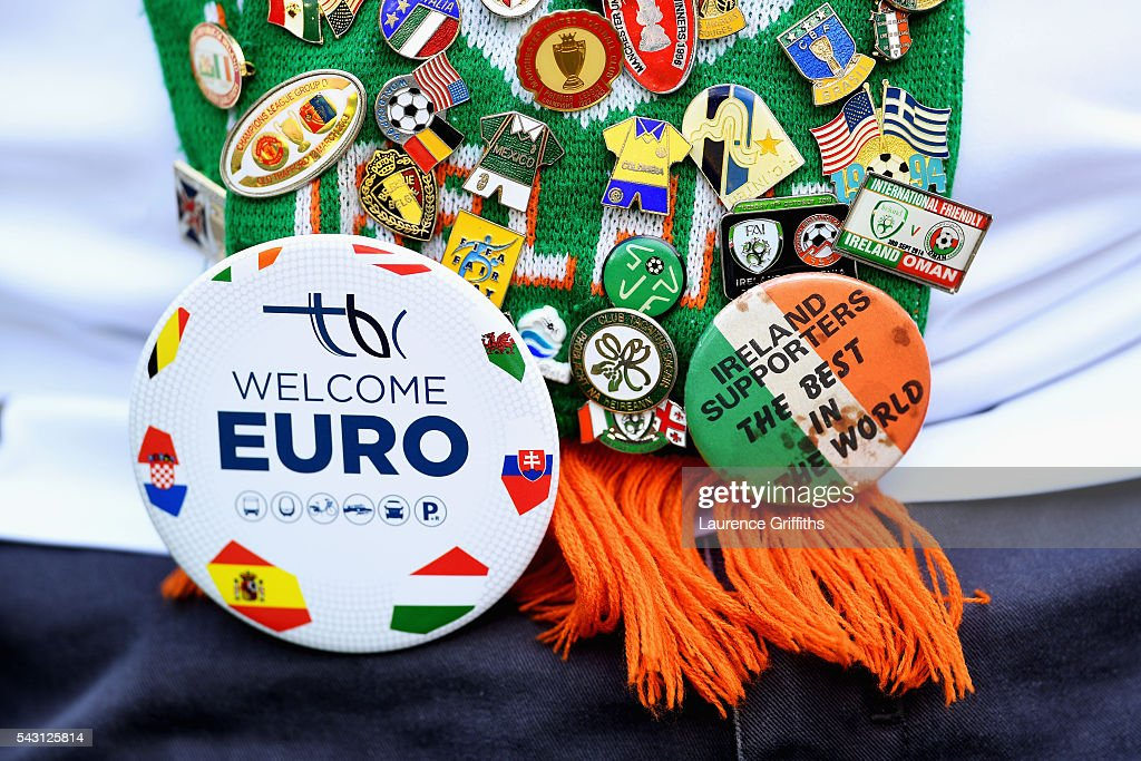 An Ireland supporter is seen prior to the UEFA EURO 2016 round of 16 match between France and Republic of Ireland at Stade des Lumieres on June 26, 2016 in Lyon, France.