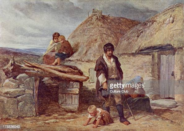 An Irish Eviction 1850 From painting by F Goodall