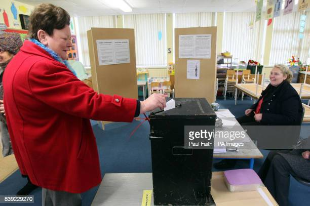 An Irish voter in Raphoe Co Donegal as today's byelection is underway