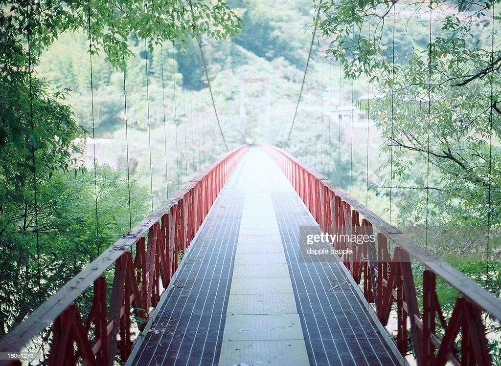 an iron bridge