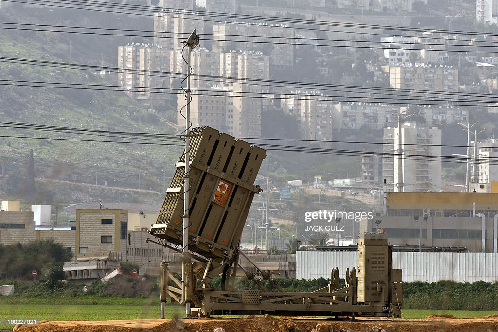 An 'Iron Dome' short-range missile defence system is pictured near the northern Israeli city of Haifa on January 28, 2013. The Iron Dome defence missile system is designed to intercept and destroy incoming short-range rockets and artillery shells. Fearing that Syrian chemical weapons could fall into the hands of Islamist militants, Israel is taking diplomatic and military steps to prevent it, local media and a security source said. AFP PHOTO / JACK GUEZ
