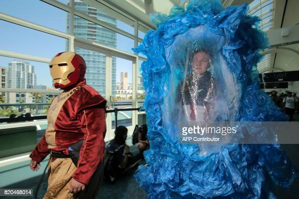 An Iron Man modified as an Iron Renaissance Man accompanies a Captain America character who became frozen in ice during the movie Captain America The...
