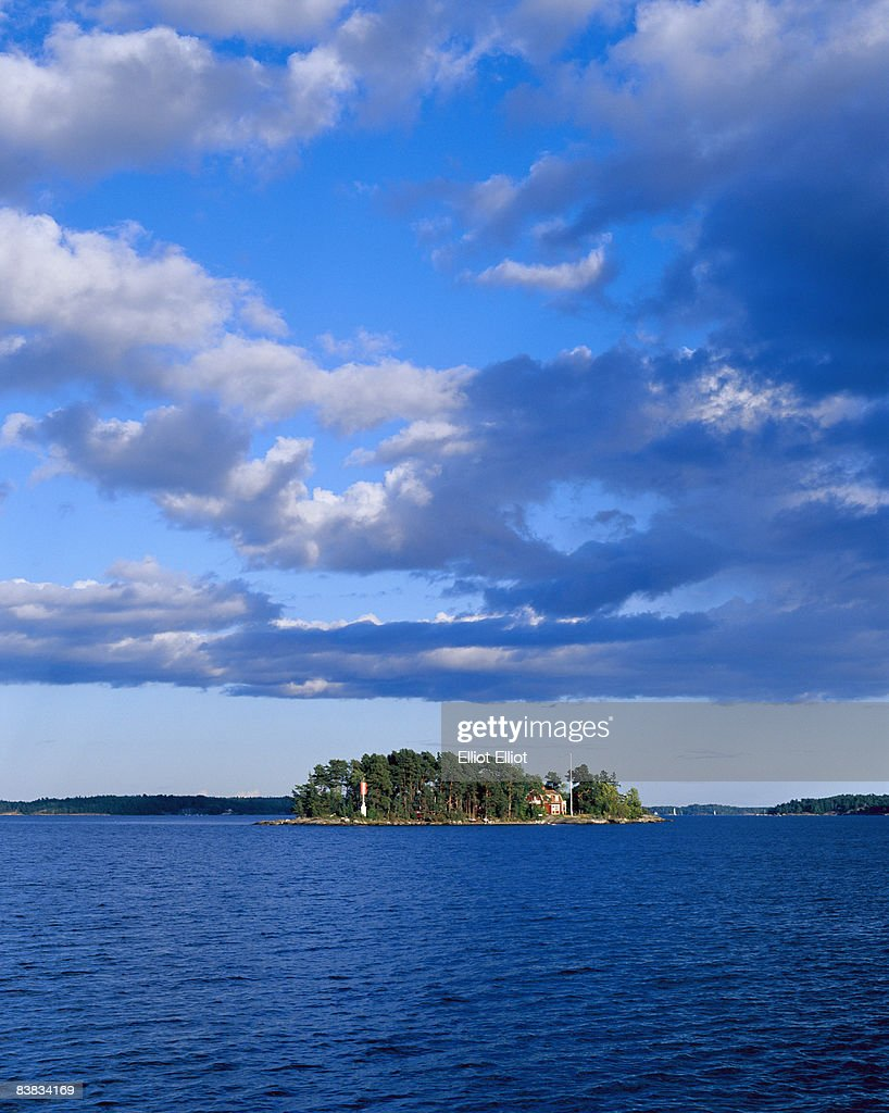 An island outside of Waxholm Stockholm archipelago Sweden. : Stock Photo