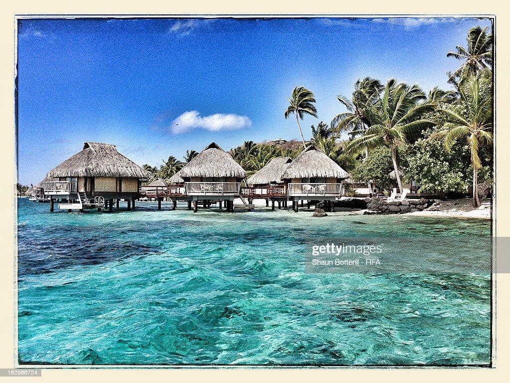 An island view on September 30 2013 in Bora Bora French Polynesia