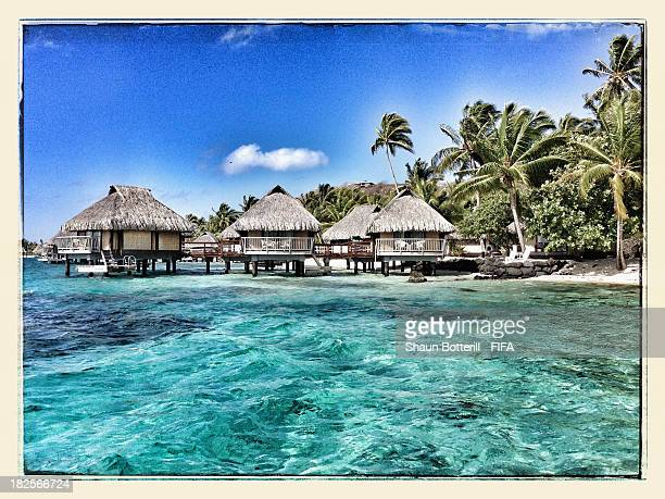 An island view on September 30 2013 in Bora Bora French Polynesia