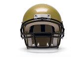An isolated gold football helmet