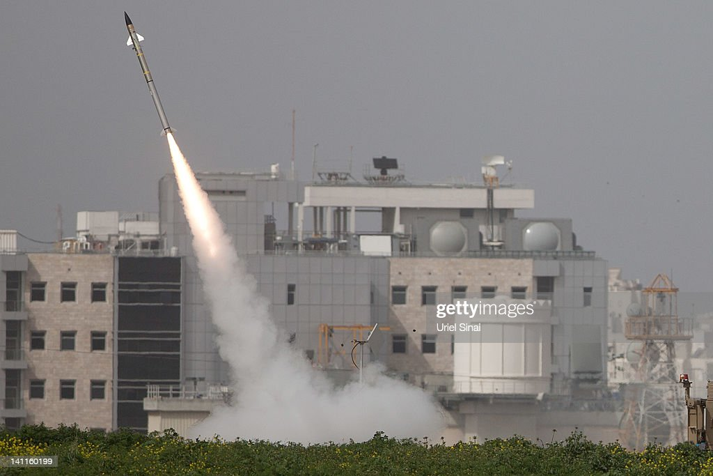 An Israeli missile is launched from the Iron Dome missile system in response to a rocket launch from the nearby Palestinian Gaza Strip, on March 12, 2012 near Ashdod, Israel. According to the IDF, four rocket-launching sites, militants and a weapons storage facility have been targetted overnight. The Iron Dome has shot down over 40 rockets launched into Israel as Israeli PM Netanyahu pledges to boost civilian defence. The death toll, following four days of conflict, has reached 21.