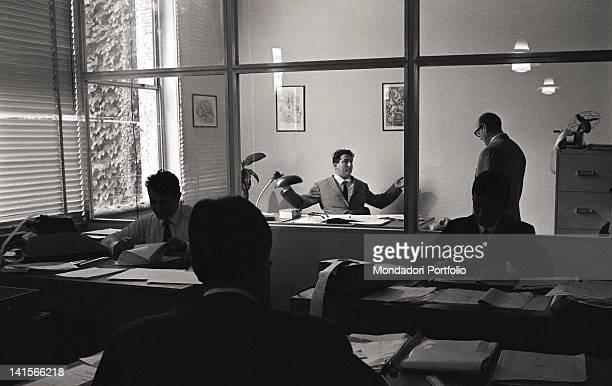 An Italian employer firing an employee Italy 1960s