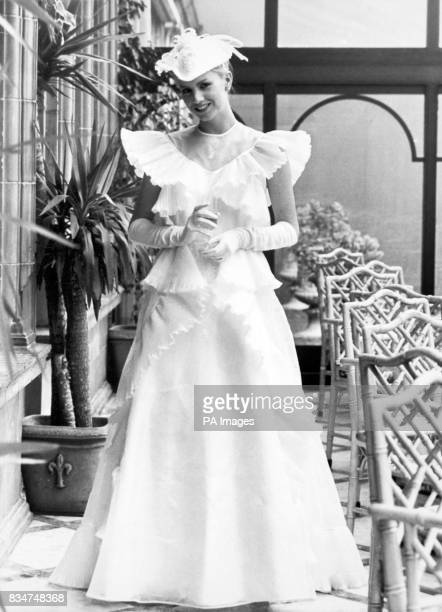 An Italian organdie wedding dress priced at 455 which was feature in Harrods Bridal Gown Fashions for Spring