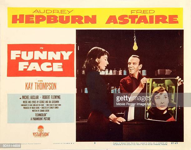 An Italian poster for Stanley Donen's 1957 musical 'Funny Face' starring Audrey Hepburn and Fred Astaire