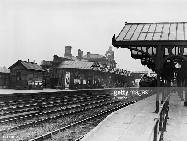 An LNER train arriving at Wakefield railway station Yorkshire 3rd August 1927