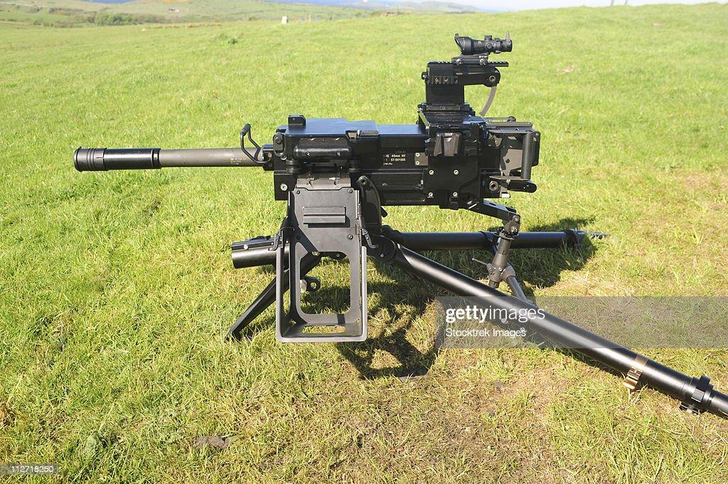 An MK19 40mm machine gun.