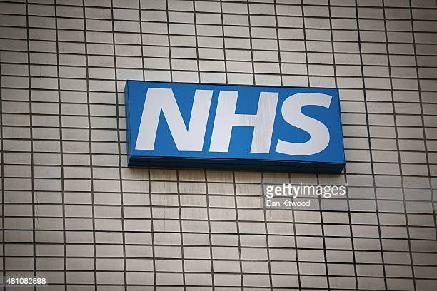 An NHS sign outside St Thomas' Hospital on January 6 2015 in London United Kingdom Figures released suggest that the NHS in England has missed its...