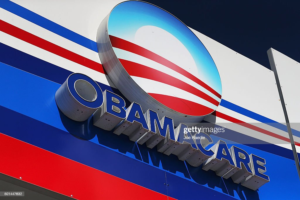 An Obamacare sign is seen on the UniVista Insurance company office on December 15, 2015 in Miami, Florida. Today, is the deadline to sign up for a plan under the Affordable Care Act for people that want to be insured on January 1, 2016.
