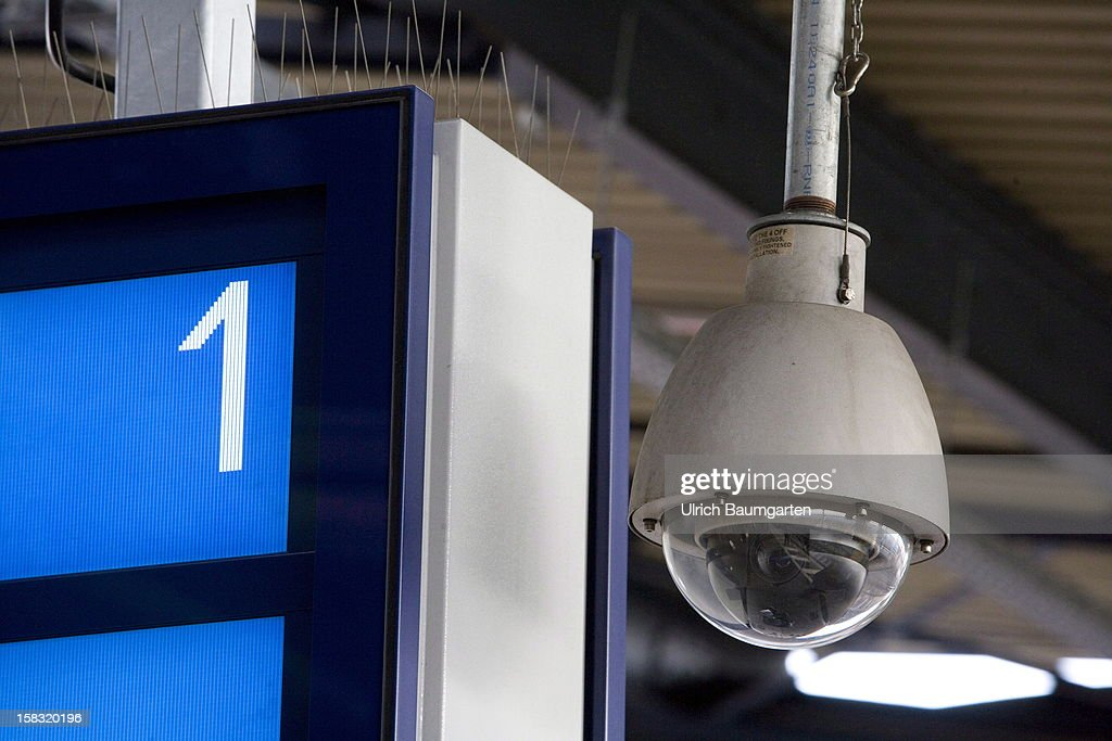 An observation camera is positioned at platform 1 in the Bonn main train station where the bag with the explosives was found on December 13, 2012 in Bonn, Germany. German police have begun searching for a second suspect they believe was behind a bomb scare in the western city of Bonn. The local police had expanded their search after spotting a potential suspect on video footage from a nearby fastfood restaurant.