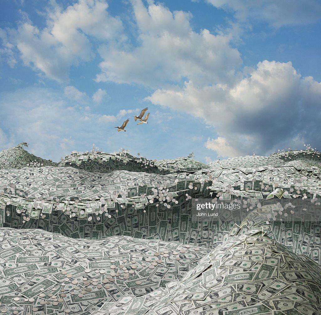 An Ocean of Money : Stock Photo