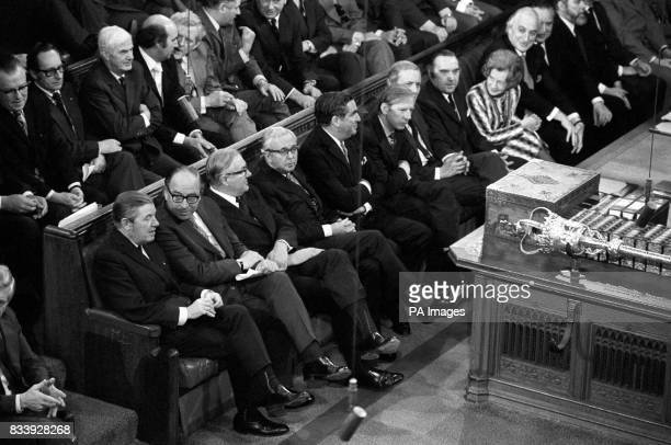 An October 1974 library picture of part of the Labour front bench which could include the next Prime Minister following the shock resignation today...