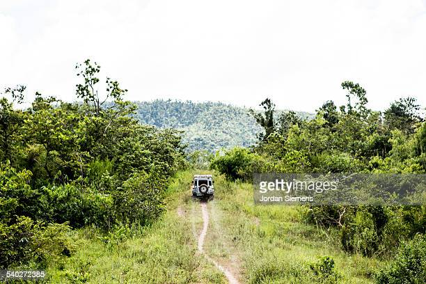 An off road vehicle exploring.