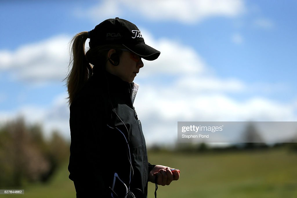 An official looks on at the first tee during the PGA Professional Championship East Qualifier at Gog Magog Golf Club on May 3, 2016 in Cambridge, England.
