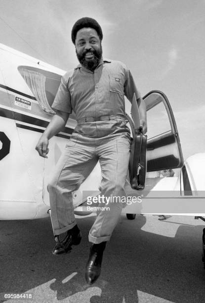 An official of the Southern Conference Leadership Conference Hosea Williams steps from a private airplane as he arrived to organize a Poor Peoples...