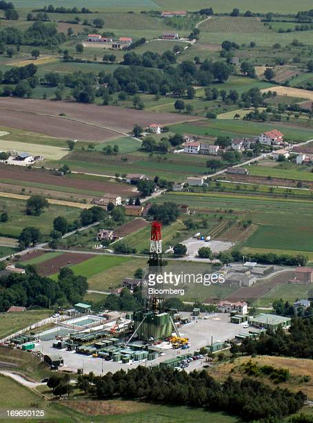 An oil rig operated by Eni SpA stands in the Val d'Agri valley in Basilicata Italy on Thursday May 16 2013 Basilicata a mountainous sparsely...