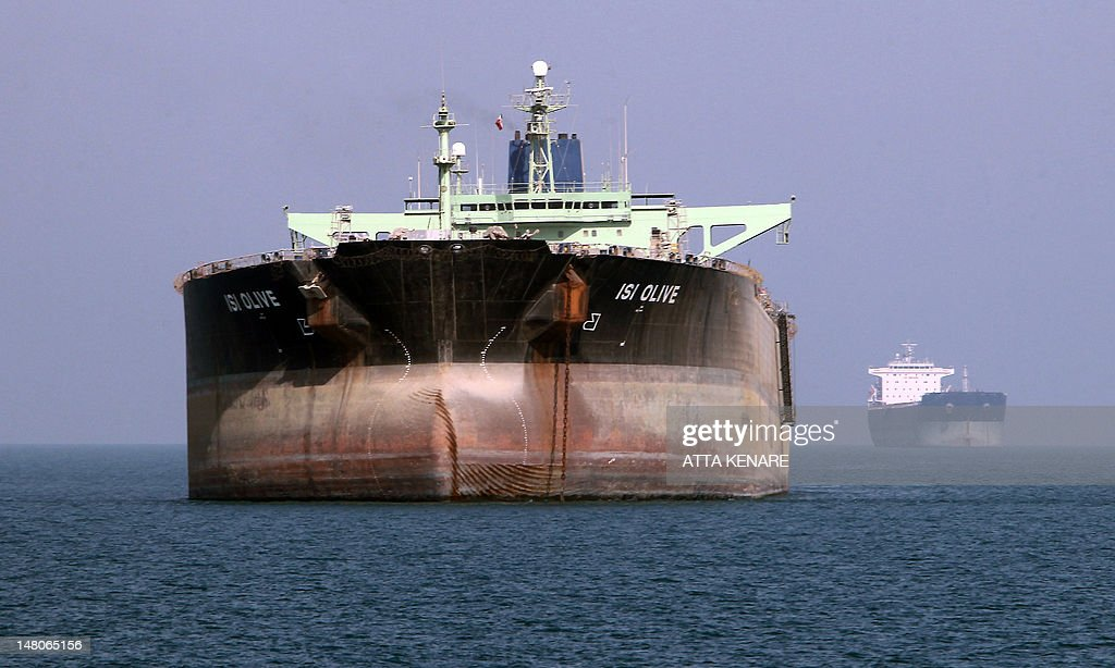 An oil tanker is seen off the port of Bandar Abbas southern Iran on July 2 2012 Iran has come up with several methods to foil the European insurance...