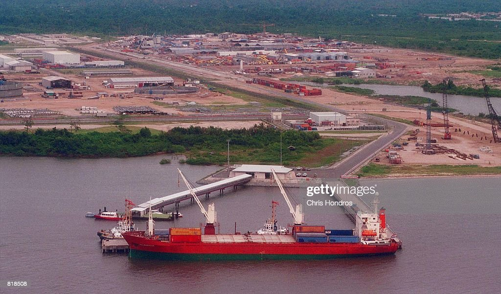 An oil tanker loads up at Shell-owned Bonny Oil Terminal in the Niger Delta region of Nigeria March 27, 2001. The US Supreme court cleared the way March 26, 2001 for the parent companies of Shell to be sued in New York for allegedly instigating the murder of Ogoni activist Ken Saro-Wiwa in Nigeria by a former Nigerian military government. The case, filed in 1996 in federal court in Manhattan, was brought by the family of executed activist Ken Saro-Wiwa, who led opposition to Royal Dutch/Shell Group's oil exploration activities in the Ogoni region of Nigeria. The lawsuit alleged that Shell Petroleum Development Co. of Nigeria took land for oil development without paying adequate compensation and then polluted the region's air and water.