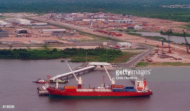 An oil tanker loads up at Shellowned Bonny Oil Terminal in the Niger Delta region of Nigeria March 27 2001 The US Supreme court cleared the way March...