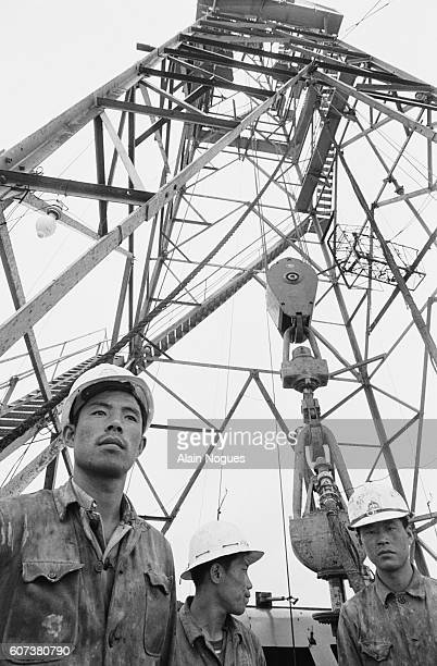 An oil well on the Manchurian Steppe