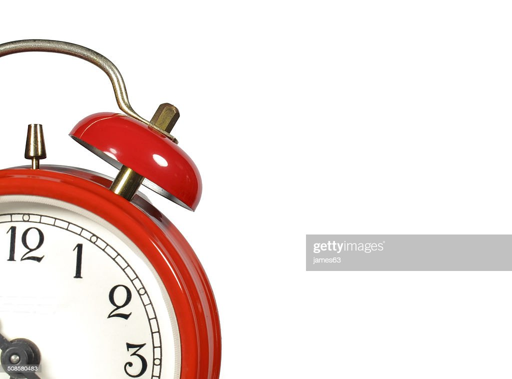 an old alarm clock old red : Stockfoto