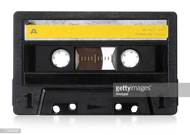 An old audio cassette used back in the 90s