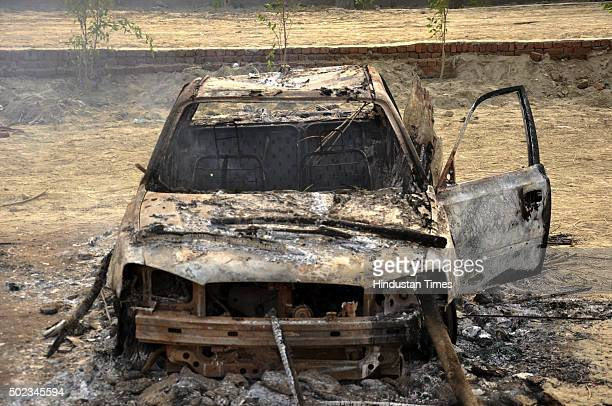 An old car belonging to underworld don Dawood Ibrahim was set ablaze by right wing activist Chakrapani Maharaj and his followers on December 23 2015...